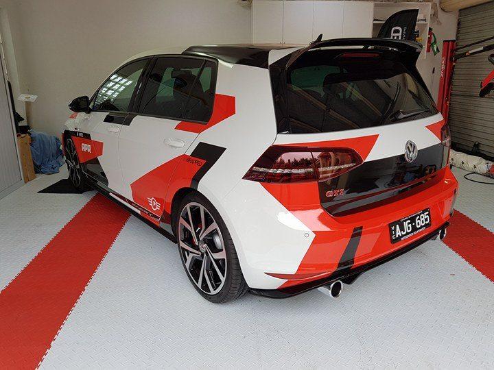 2016 VW Golf GTI Clubsport edition custom geometric camo